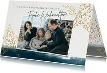 Weihnachtskarte mit Foto und Stern im Gold-Look