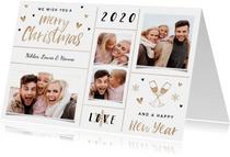 Weihnachtskarte mit Fotocollage und Handlettering