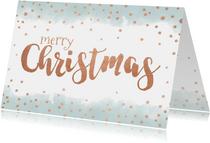 Weihnachtskarte mit Wasserfarbe und Goldkonfetti