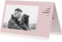 Weihnachtskarte schlicht Schneeflocken & Foto
