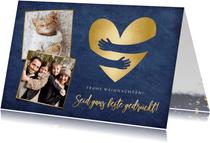 Weihnachtskarte 'Seid gedrückt' mit Fotos