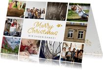 Weihnachtskarte viele Fotos geschäftlich Merry Christmas