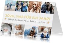 Weihnachtskarte 'Was für ein Jahr' Fotocollage