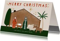 Weihnachtskarte Weihnachtskrippe Stall von Bethlehem
