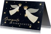 Weihnachtskarte zwei Weihnachtsengel