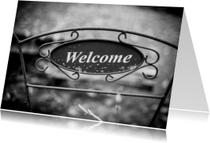 Welkom thuis kaarten - Welcome black n white