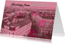 Wenen vakantiekaart