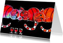 Verjaardagskaarten - Wenskaart - Drie slettebakjes