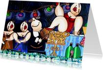 Verjaardagskaarten -  Wenskaart - Spektakel