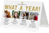 What a Year! Nieuwjaarskaart