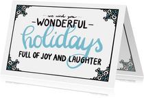 Wonderful holidays blauw - EM
