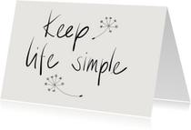 Woonkaart Keep life simple