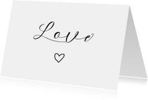Woonkaart 'Love' met hartje