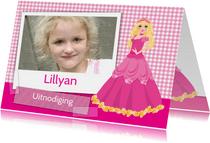 YVON barbie eigen foto uitnodiging
