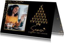 Zakelijke corona kerstkaart - bedankje personeel of relaties