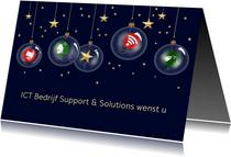 Zakelijke kerst - Kerstballen met ICT pictogrammen