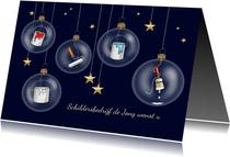Zakelijke kerst - schilders kerstballen