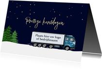 Zakelijke kerst - vrachtwagen in de sneeuw