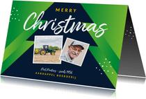 Zakelijke kerstkaart agrarisch boer landbouw kerstbomen