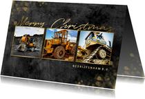 Zakelijke kerstkaart bouw fotocollage goud