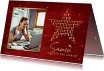 Zakelijke kerstkaart Corona voor medewerkers - samen sterk