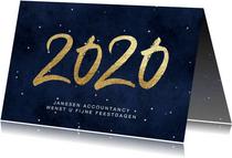 Zakelijke kerstkaart kerstkaart 2020 nacht