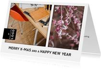 Zakelijke kerstkaart met foto's en logo bedrijf