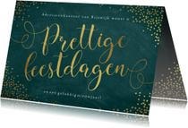 Zakelijke kerstkaarten - Zakelijke kerstkaart met goudkleurige sierlijke letters