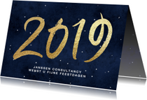Zakelijke kerstkaart nieuwjaarskaart 2019