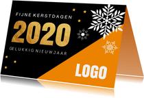 Zakelijke kerstkaart oranje 2020
