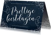 Zakelijke kerstkaarten - Zakelijke kerstkaart sneeuwvlokken sierlijke letters