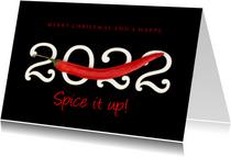 Zakelijke kerstkaart Spice it up