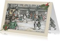 Zakelijke kerstkaarten - Anton Pieck koets met paard
