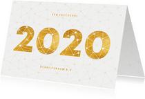 Zakelijke nieuwjaarskaart gouden 2020 verbinding thema