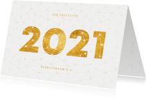 Zakelijke nieuwjaarskaart gouden 2021 verbinding thema