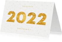 Zakelijke nieuwjaarskaart gouden 2022 verbinding thema