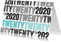 Zakelijke nieuwjaarskaart twentytwenty 2020
