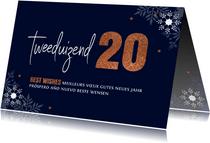 Zakelijke nieuwjaarskaart typografie 2020