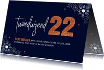 Zakelijke nieuwjaarskaart typografie 2022