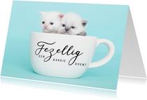 Zomaar kaart - Kittens - Gezellig een bakkie doen?