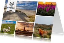 Zomaar kaart met impressie van Texel
