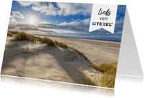Zomaar kaart strand genieten van Texel