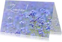 Zomaar kaart veld bloemen