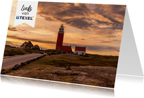 Zomaar kaart vuurtoren van Texel met groetjes