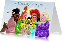 Zomaar kaarten Vrolijk bloemetje voor jou