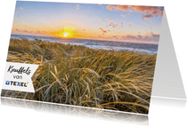 Zomaarkaart kusjes vanaf Texel zeezicht