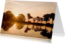 Condoleancekaarten - Zon weerspiegelt in water