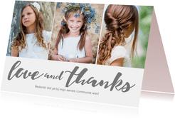 Bedankkaartje voor de eerste communie van je dochter