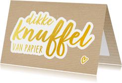 Beterschap - dikke papieren knuffel gewenst