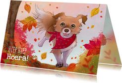 Chiwowy verjaardagskaart herfst Penny